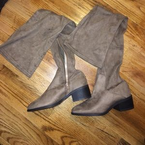 FOREVER21 over the knee suede boots